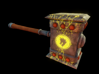 Sketchfab link, view in 3D: https://sketchfab.com/3d-models/the-doomhammer-50e992817f294d5a8d2d3626c504f9ad