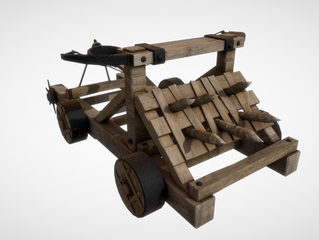 Sketchfab link, view in 3D: https://sketchfab.com/3d-models/catapults-e6ef905a441a406aaa1e39f106224f6e