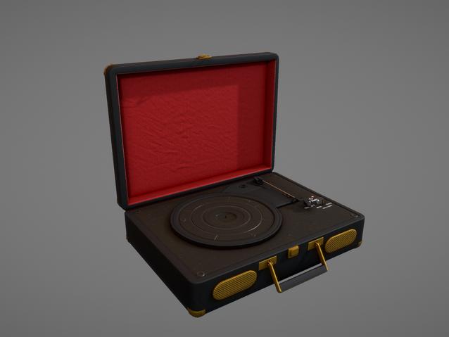 Sketchfab link, view in 3D: https://sketchfab.com/3d-models/vinyl-record-player-8160bab73e484ba58ca1740d8c913728
