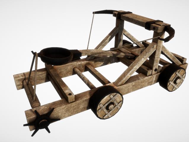Sketchfab link, view in 3D: https://sketchfab.com/3d-models/catapults-e6ef905a441a406aaa1e39f106224f6e