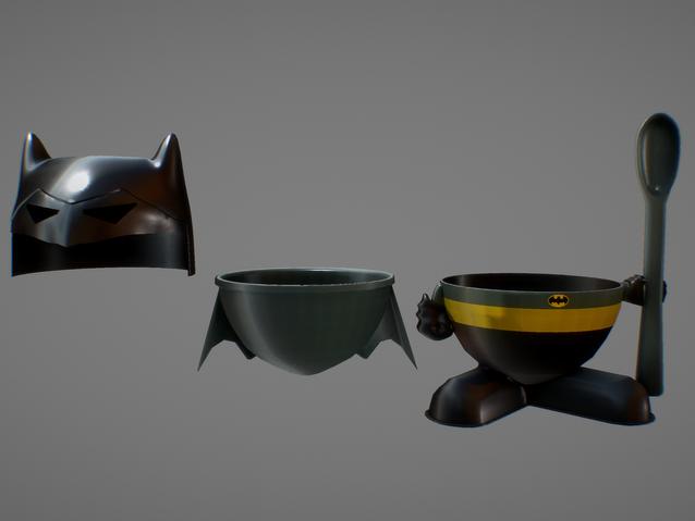Sketchfab link, view in 3D: https://sketchfab.com/3d-models/batman-egg-cup-d07bd287ee8d47e9b9ee6f9d09cc3524