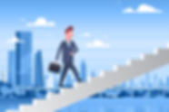 business-man-walking-stairs-up-over-mode