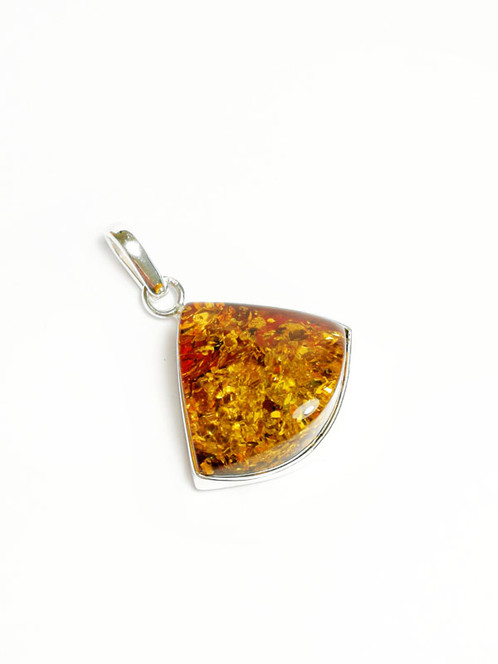 frame amber with products filigree silver chain finished pendant sterling antique in