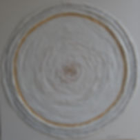 FLORAII 80 x 80 grau-weißtöne, goldfarben mit Palmfaser , Papier - Zarte Farben und Muster bestimmen das Bild