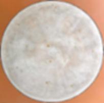 IM KREISLAUF 80 x 80 champagner-weiß auf braun-fraise mit Champagnerkreide und Blattgoldelementen - Der Kreislauf ist eine regelmäßig wiederkehrende Abfolge - von was auch immer ...