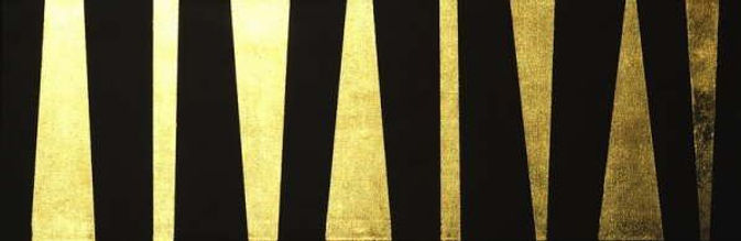 fries II 40 x 120 schwarz, Blattgold