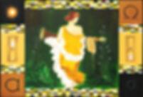 zeit 150 x 220 grün, braun, beige, gelb weiß, nachtblau, gold mit Blattgold