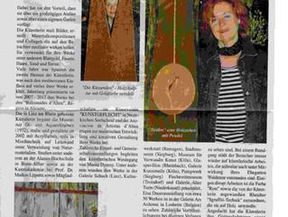 """Artikel in der """"Montagszeitung"""" MOZ Niederkassel anläßlich einer Aufmunterung zur Kreativi"""