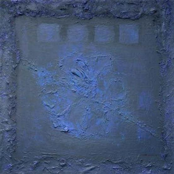 spanische nacht 100 x 100 nachtblau, blau, Palmfasern