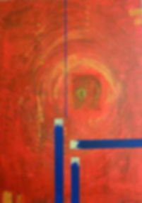 strukturen in rot 70 x 50 rot, blau