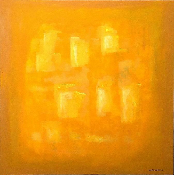 licht auf gelb 90 x 90 gelb, weiß