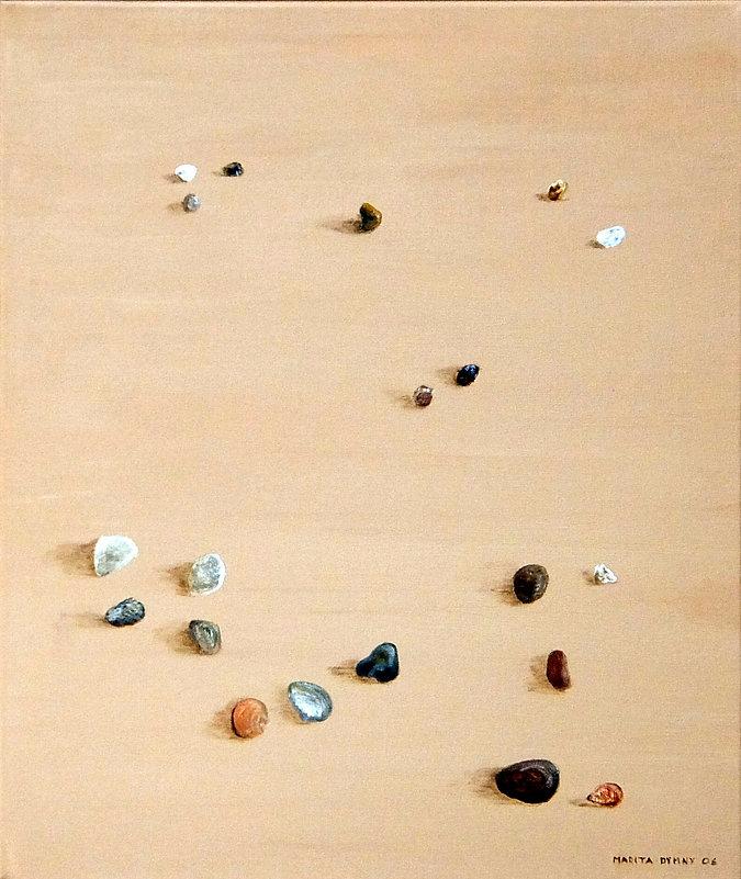 Steine im Sand 55x 45, beige