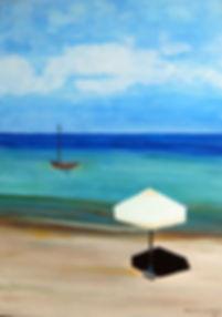Urlaubsstimmung 70 x 50 Acryl