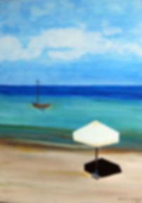 Urlaubsstimmung 70 x 50, blau, türkis