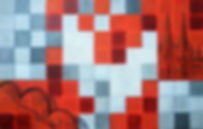 Kölncarrèe 100x 150 blau-grau, rot