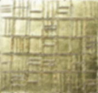 goldstruktur II 40 x 40 Blattgold - Geometrische Struktur - Geometrie und Symetrie