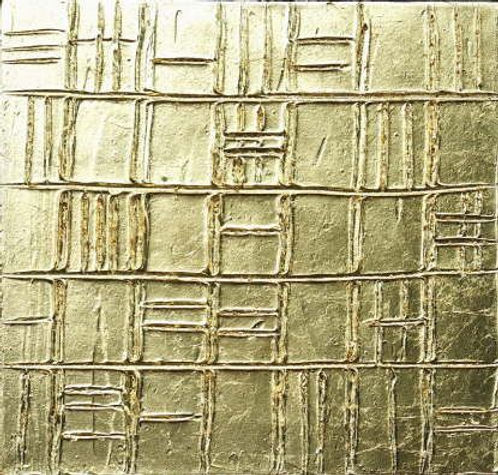 goldstruktur II 40 x 40 Blattgold