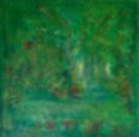 frühling 40 x 40 grün, rot