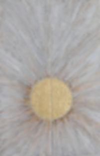 FREIE ENERGIE 2 x je 120 x 40 weißgrau-gold Papier, Palmfaser und Blattgold - Freie Energieist schier unerschöpflich. Sie produziert sich aus sich selbst heraus - wie beispielsweise die Sonne, die verschwenderisch Energie abgibt, ohne dabei selbst Energie zu verlieren.