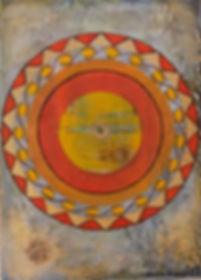 amritsar I 70 x 50 orange, ocker, Erdtöne mit Palmfasern - Amritsar ist eine Millionenstadt im indischen Bundesstaat Punjab. Die Stadt ist das spirituelle Zentrum des Sikhismus. Hier wurde am 13. April 1010 ein Massaker von britischen Soldaten und Gurkhas an Sikhs, Muslimen und Hindus verübt, die für die Unabhängigkeit Indiens protestierten.