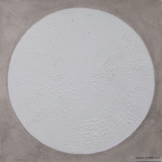 ZENTRIERT 100 x 100 steingrau-weißgrau unter anderem mit Rügener Kreide - Hier zentriert sich alles im Kreide-Kreis