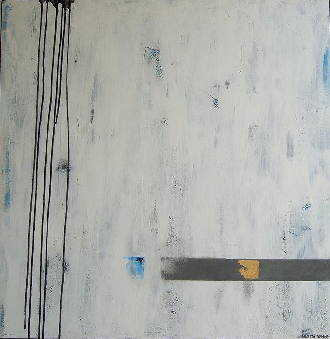 hell mit blau 70 x 70 azurblau, weiß, grau, schwarz mit Blattgold