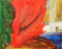 die elemente 80 x 100 rot, blau, grün, weiß, grau, braun mit Blattgold - Feuer, Erde., Wasser, Luft, Metall - Sie dürfen in Ihrem Element sein.