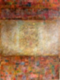 Stille Post 80 x 60 Alte Briefmarken, Struktur auf Acryl - Briefe gehen hin und her - Worte, die schweigend zur Kenntnis genommen werden, Worte, die auch zwischen den Zeilen Wichtiges hinterlassen. Worte verbinden Welten.