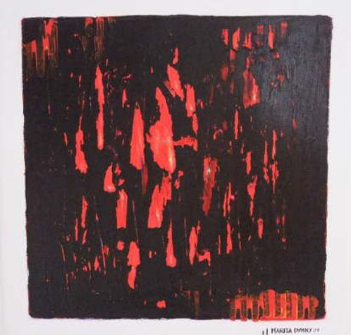verborgenes rot 30 x 30 rot, schwarz