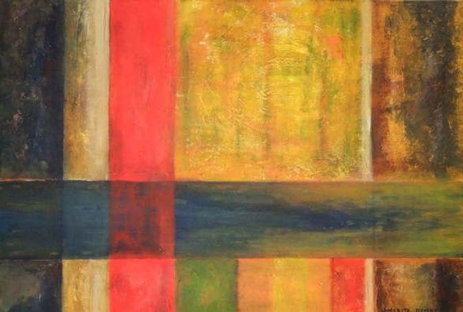 spektrum 50 x 70 orange, blau, grün, gelb, ocker, rot,schwarz