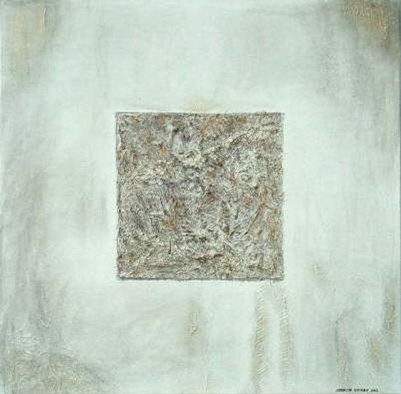 quadrat 90 x 90 Grau-Töne mit Palmfaser