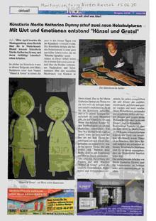 Marita Katharina Dymny in der Montagszeitung Niederkassel am 15.Juni 2020