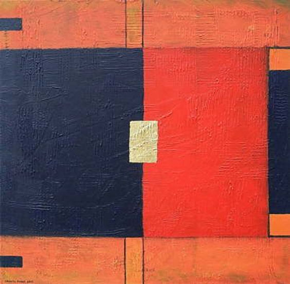 separation 100 x 100 nachtblau, orange, rot, schwarz