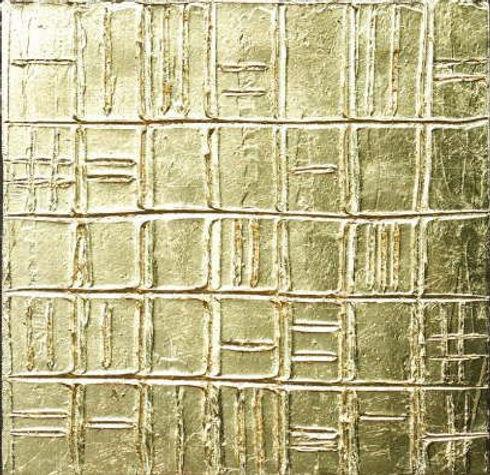 goldstruktur I 40 x 40 Blattgold - Geometrische Struktur