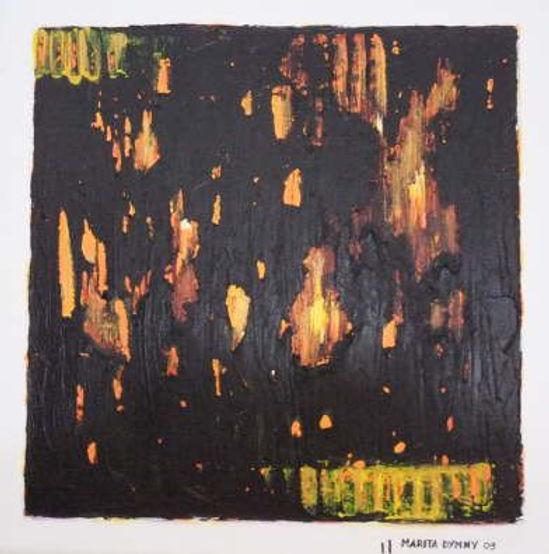 verborgenes Gelb 30 x 30 gelb, schwarz