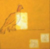 liebesbrief 70 x 70 ocker, gelb, gold, schwarz mit Papier und handgeschriebenem Liebesbrief