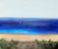 Am See 50 x 60, blau, türkis
