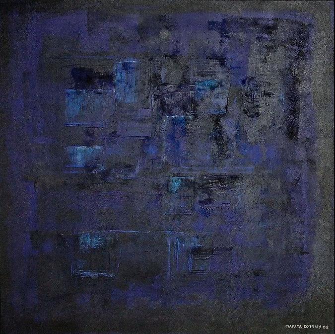 blau 90 x 90 Blau-Töne