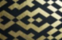 duo ii 80 x 120 schwarz mit Blattgold - Geometrie und Symetrie