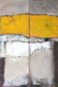 verbindung 2 je 120x 40 gelb, weiß, grau, schwarz, Steinmehl, Sand  und weiße Rosenblätter
