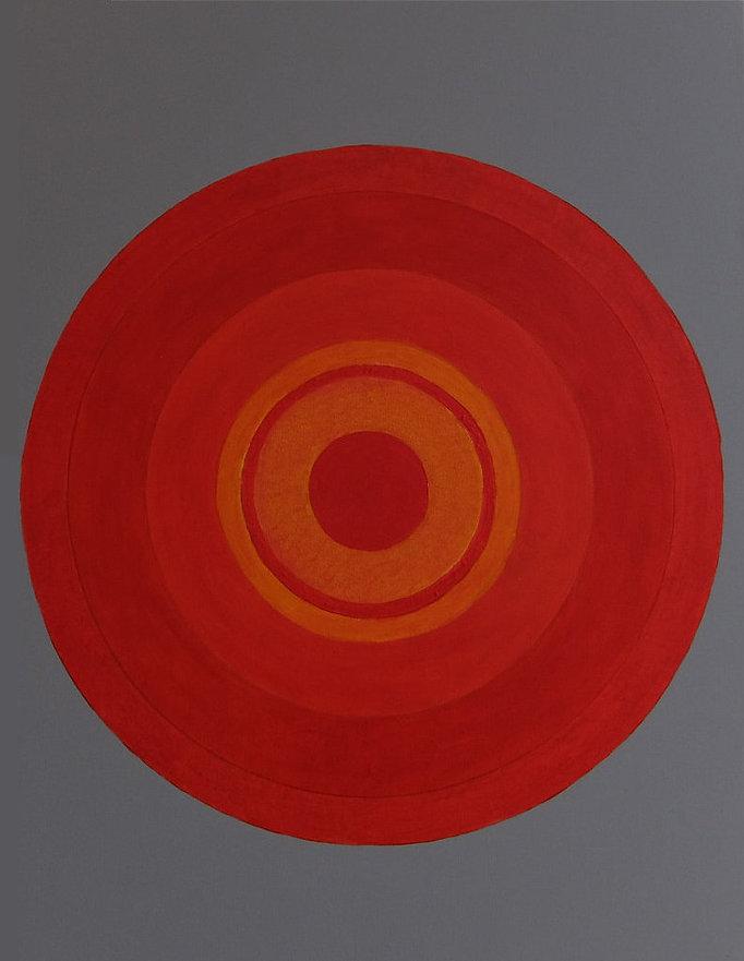 rosso 80 x 60 Orange auf grau