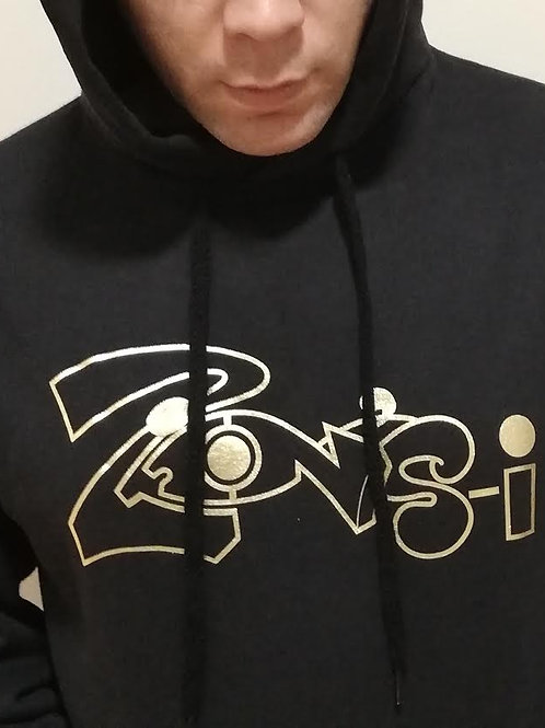 Black Hoodie with Gold Foil Zions-i Print