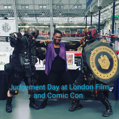 Judgement day at London film and Comic Con