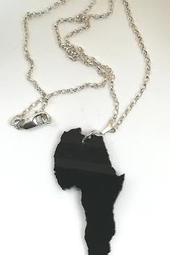Black Africa Fill Pendent Necklace
