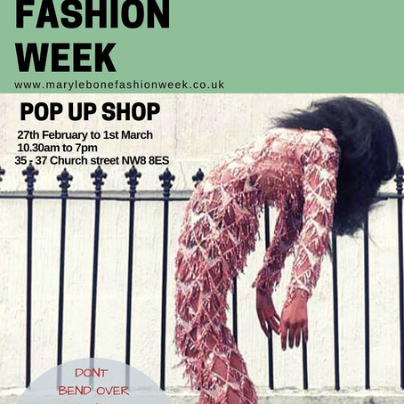 We are going to be part of Marylebone Fashion Week!