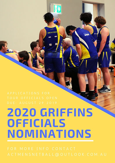 2020 Griffins Officials Applications Pos