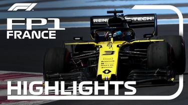 F1 France : FP1 Highlights
