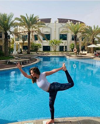 Alex - Al Ain - Yoga Retreat - Dancer Pose - Hotel - Pool