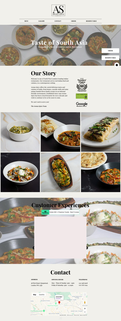 Homepage Desktop Version