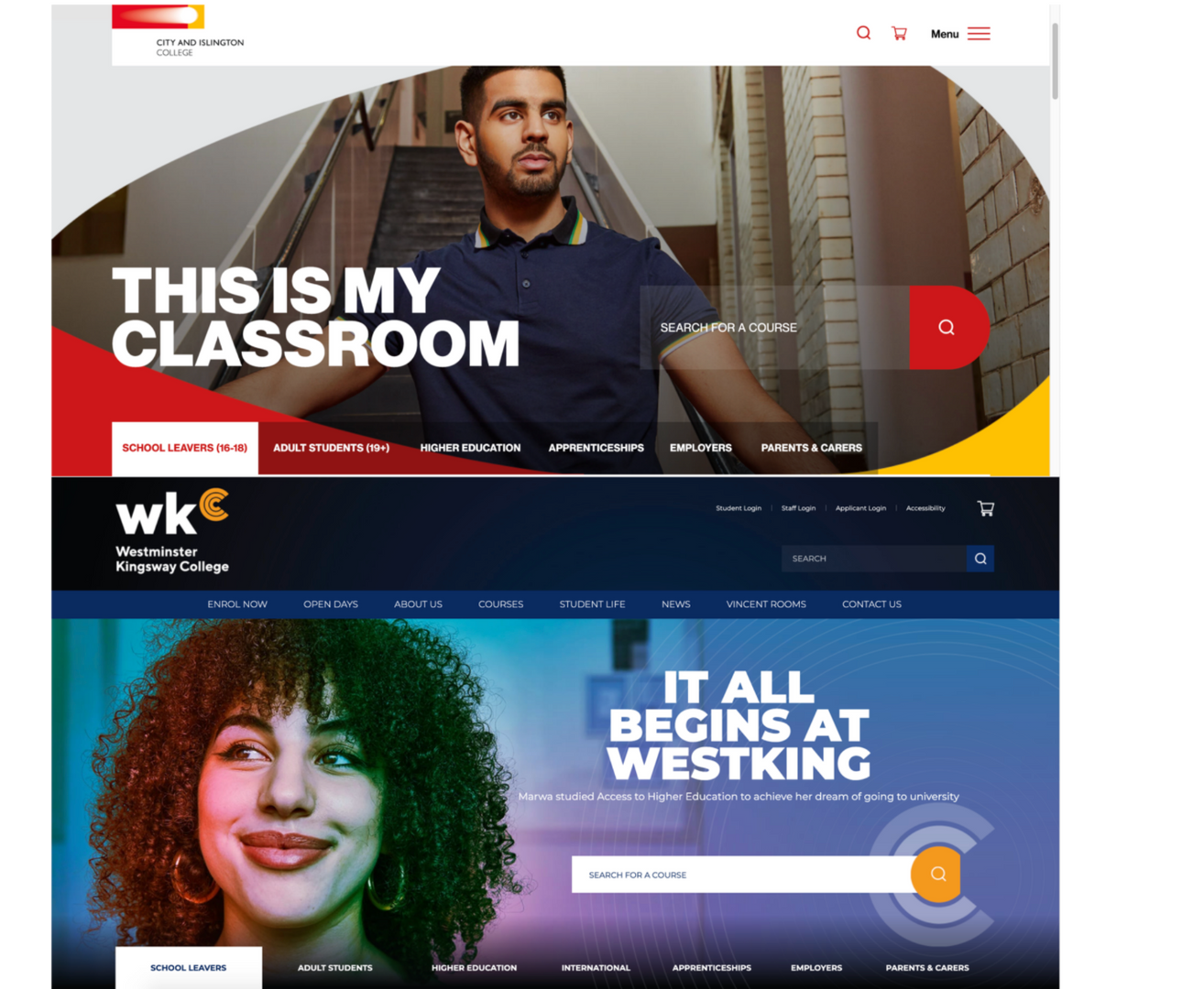 College Homepages